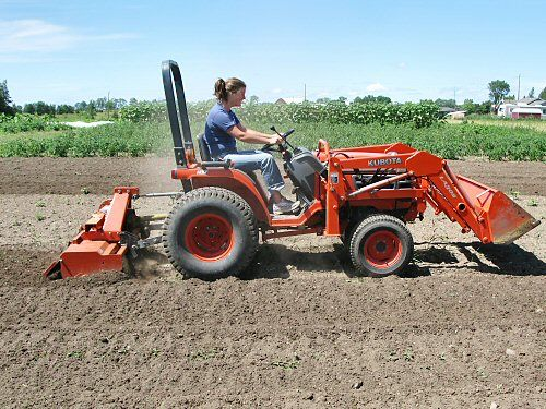 Rototilling with the Kubota compact tractor   Tractors, Small tractors, Compact  tractors