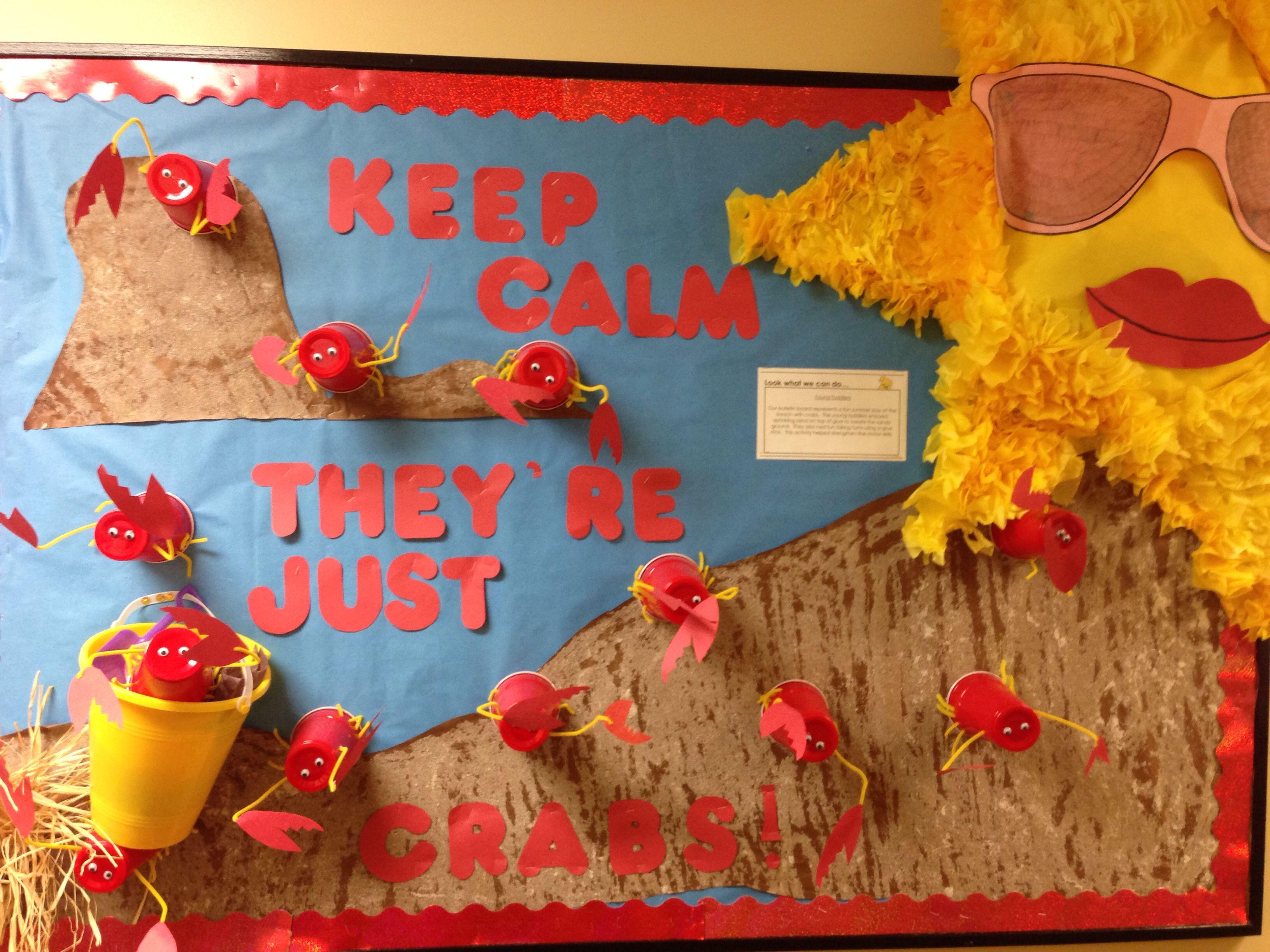 Preschool Crab Bulletin Board I Put Together