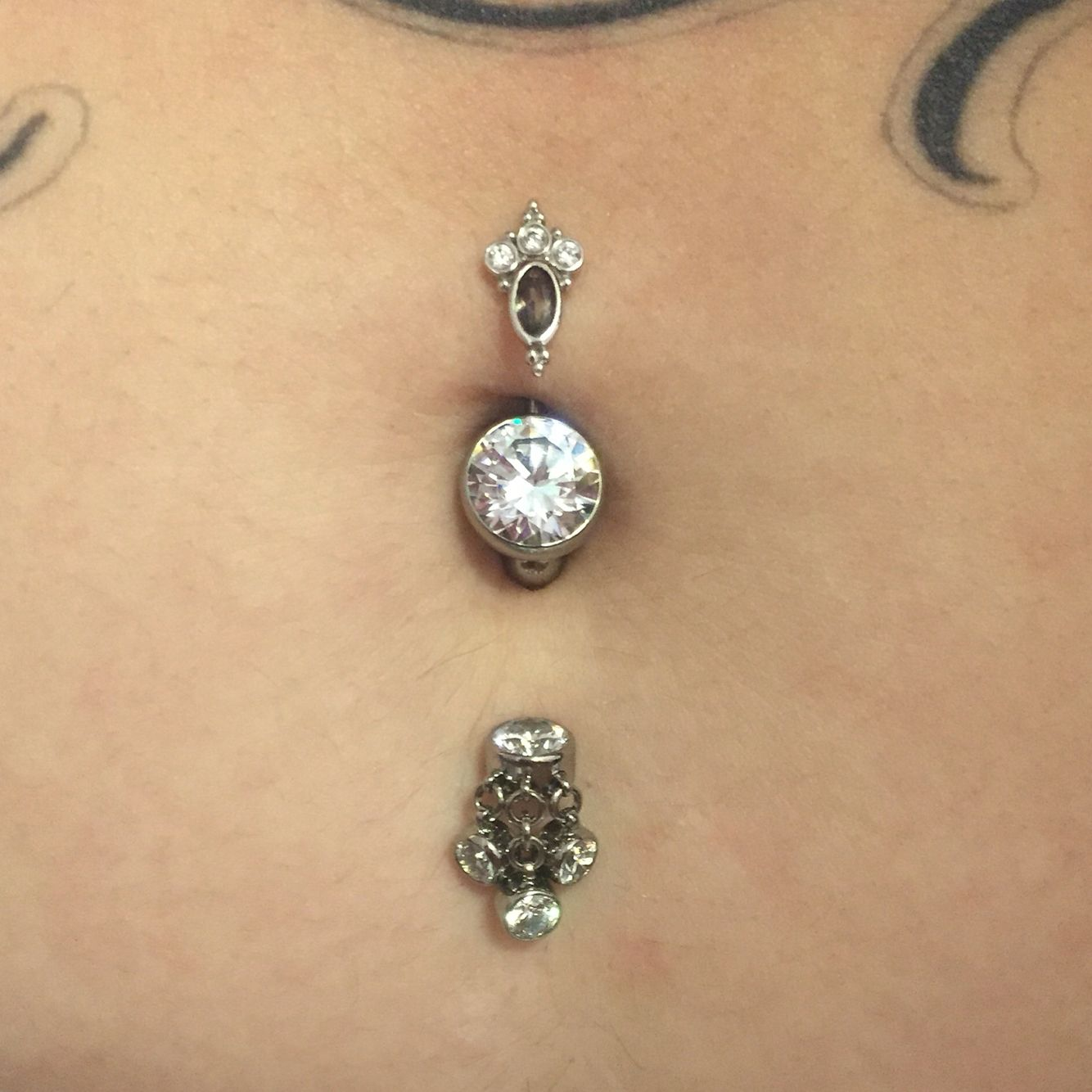 Check Out This Awesome Double Navel Piercing With Some Of Our