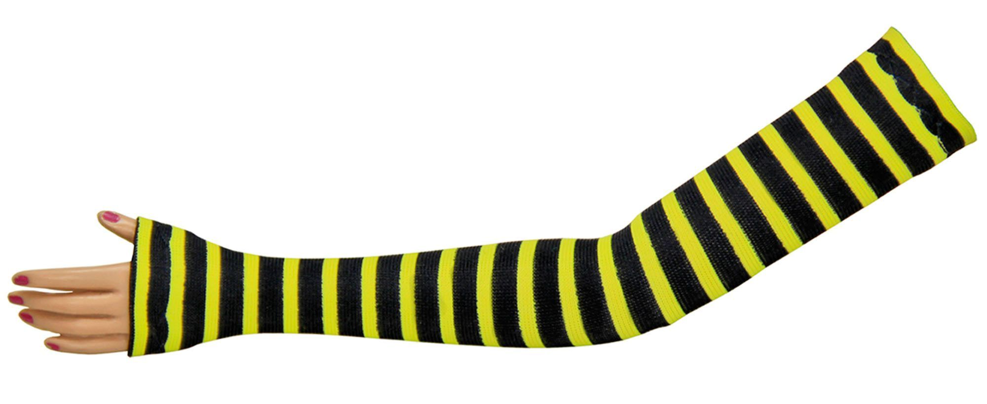 """Monster High 11"""" Tube Glove Pair - Yellow Jacket Stripe - Doll Clothes"""