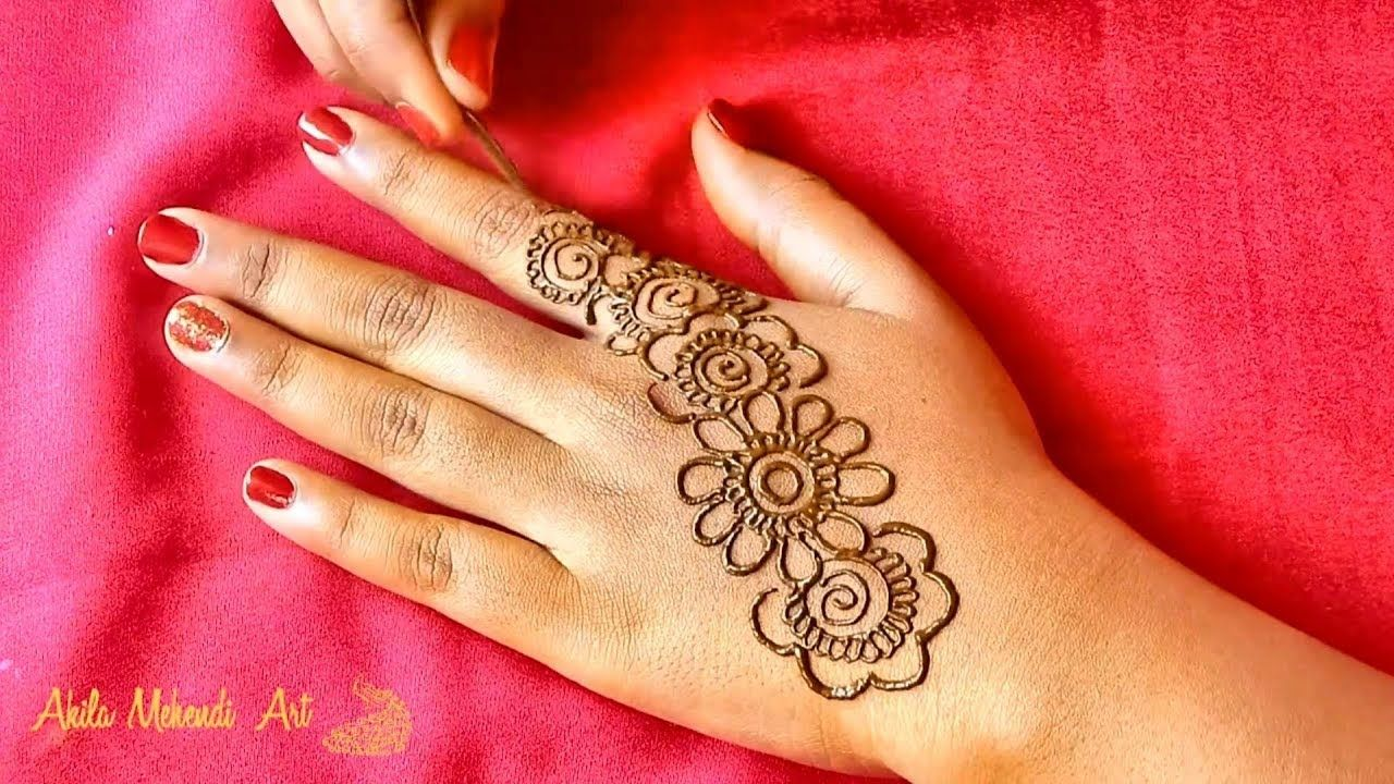 Simple and Easy Arabic Mehndi Design Back Hands