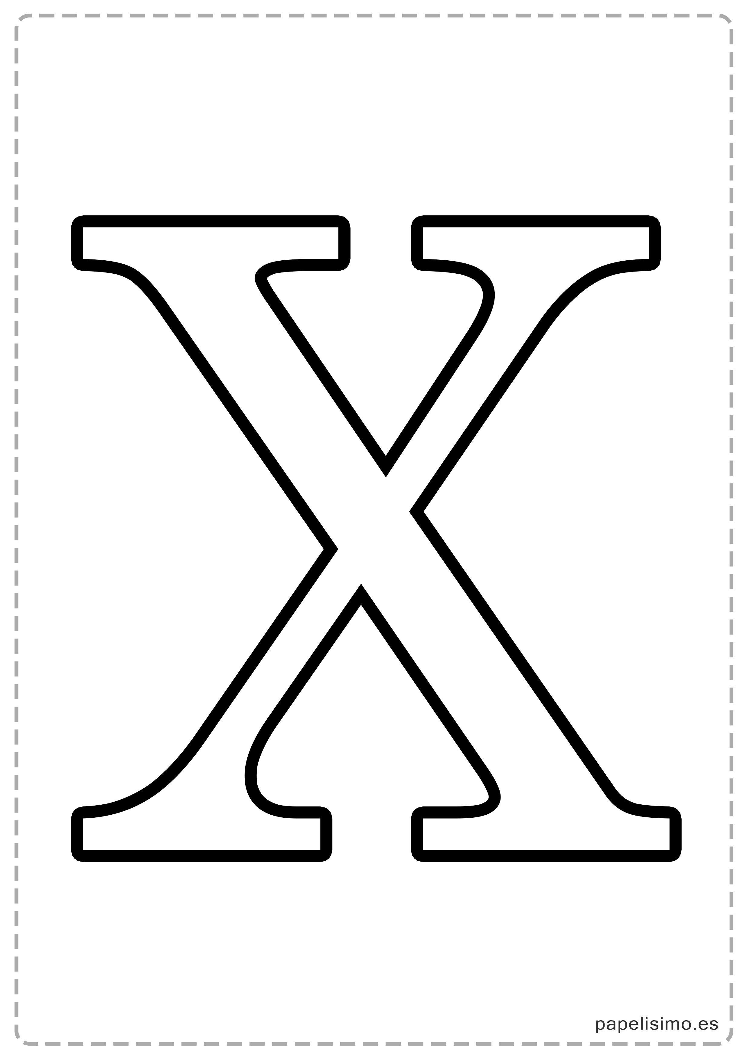 X Abecedario Letras Grandes Imprimir Mayusculas Jpg 2480 3508 En