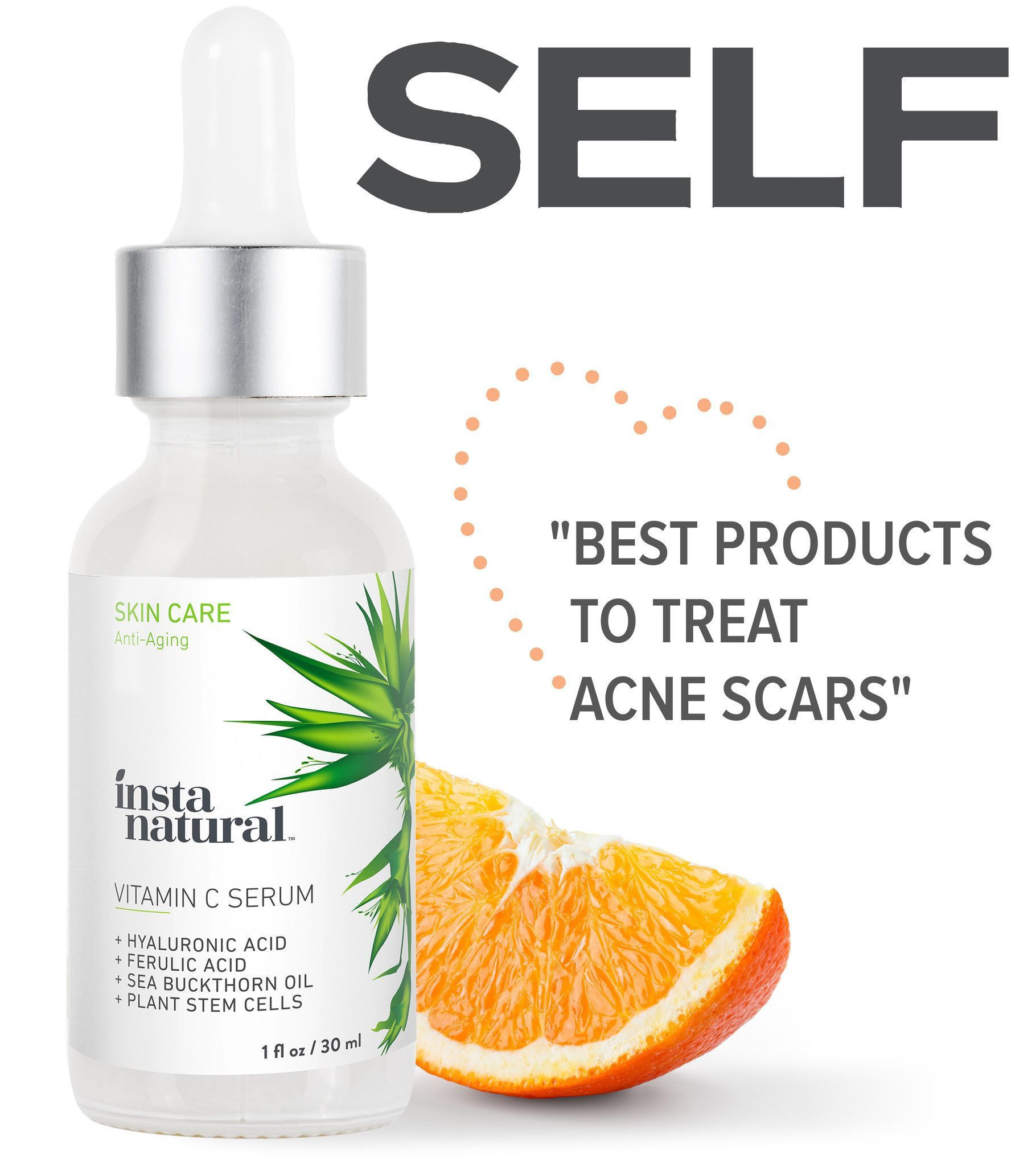 Vitamin c serum hyaluronic acid serum and vitamins