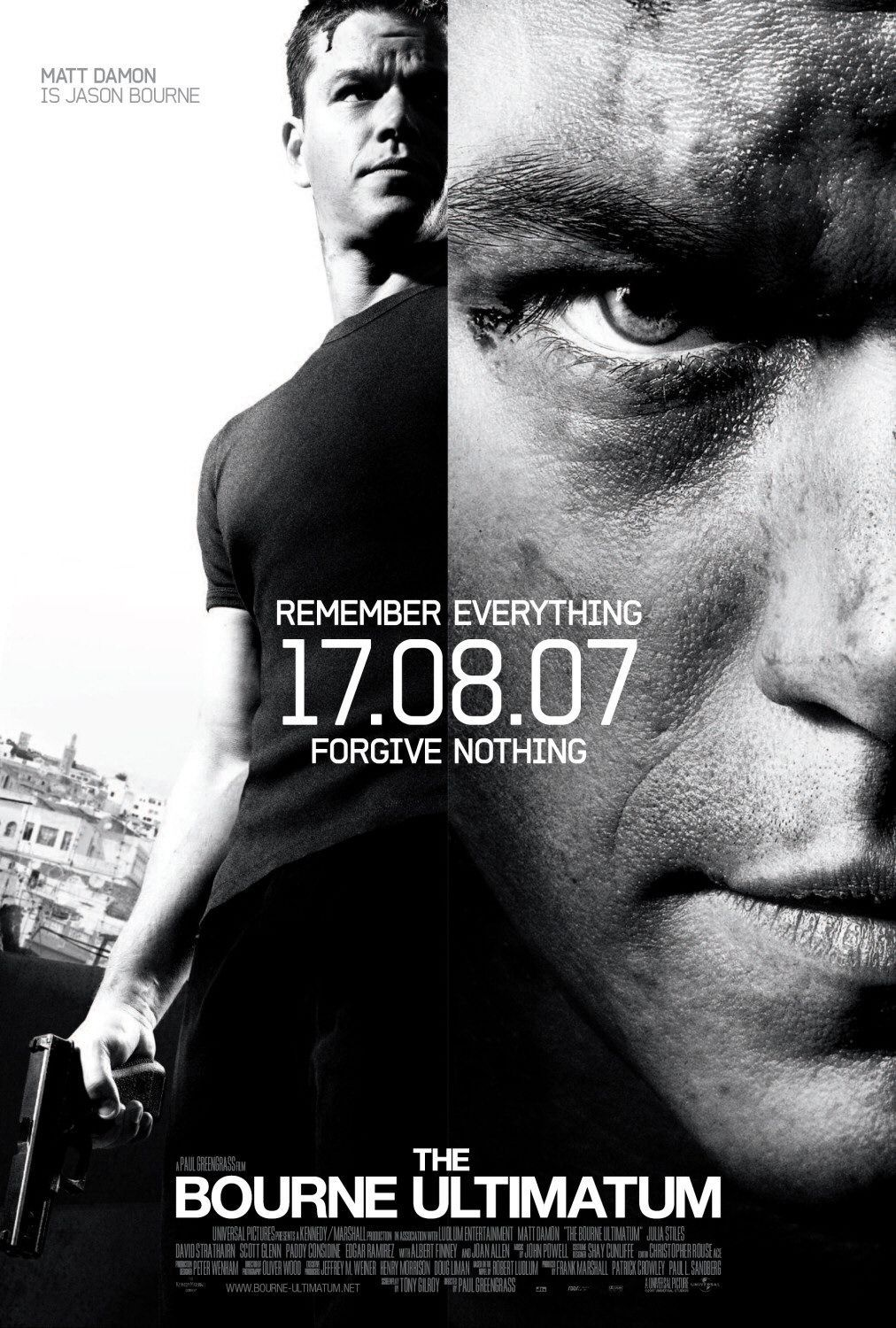 The Bourne Ultimatum with Matt Damon - one of the trilogy (this one's not as good as the first, however awesome) ADULT ONLY due to violence - #movie #action #suspense