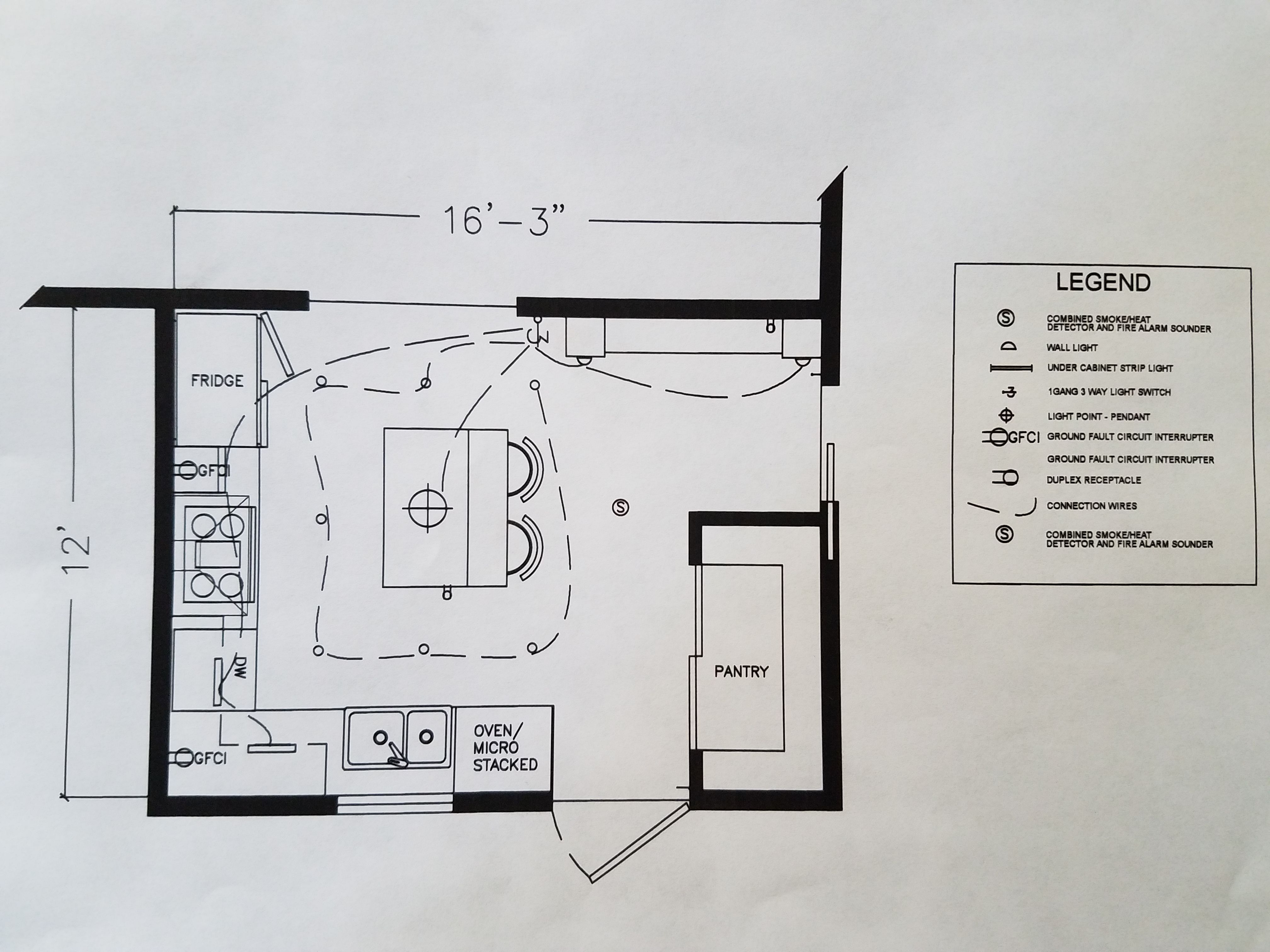 Kitchen Electrical Plan   Electrical plan, Project r, How ...
