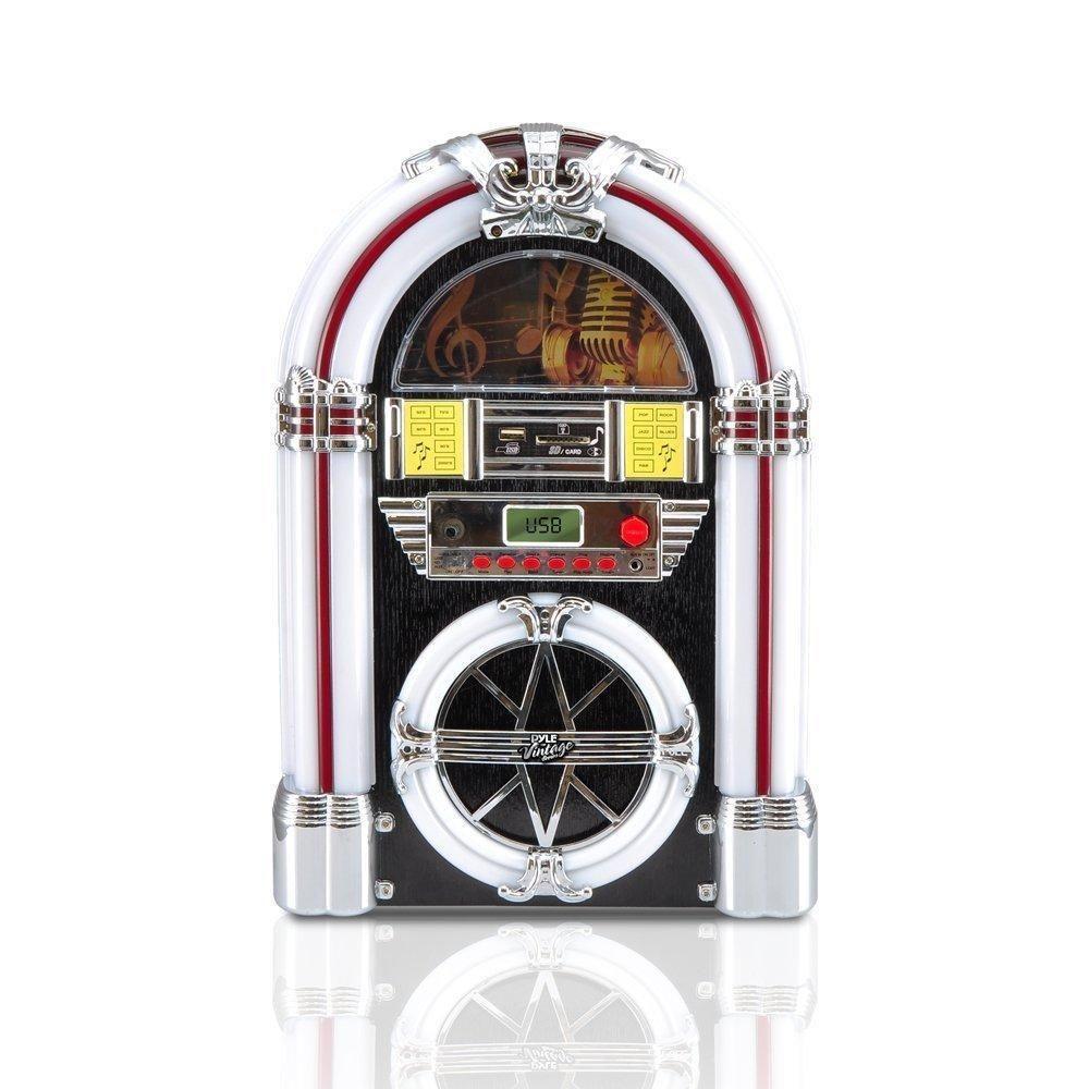 Details about Vintage Jukebox MP3 Player AM/FM Retro Radio