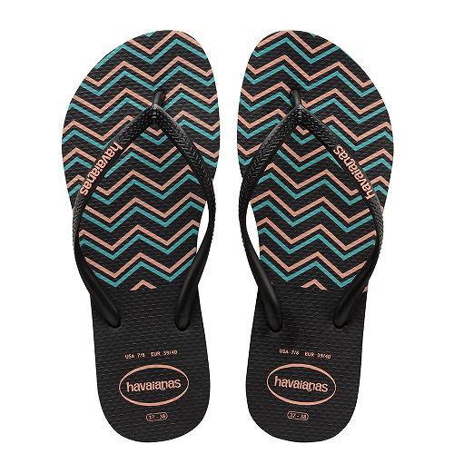 0f4e5a39d87b Havaianas Slim Zig Zag Sandal Black Flip Flop - DONNE