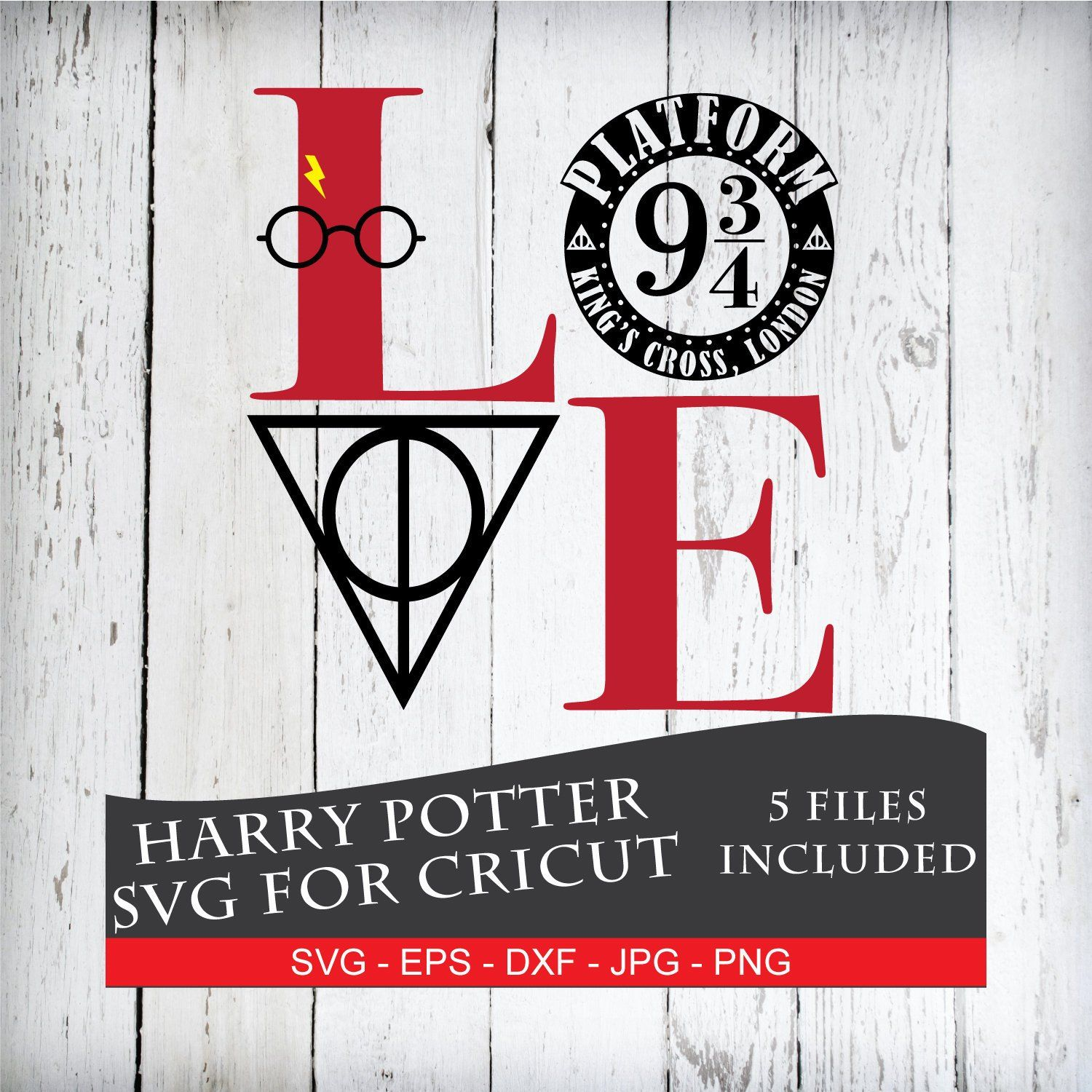 942+ Harry Potter Love Svg by Designbunle