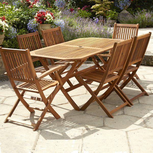 Now Just £250.00 IsThis Low Maintenance Hardwood 6 Seater Acacia Wooden Garden  Furniture Set.