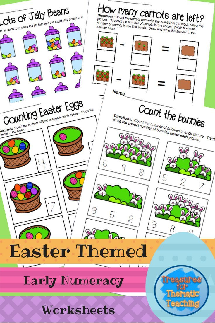 Easter Math Theme, Early Numeracy Worksheets   Numeracy ...
