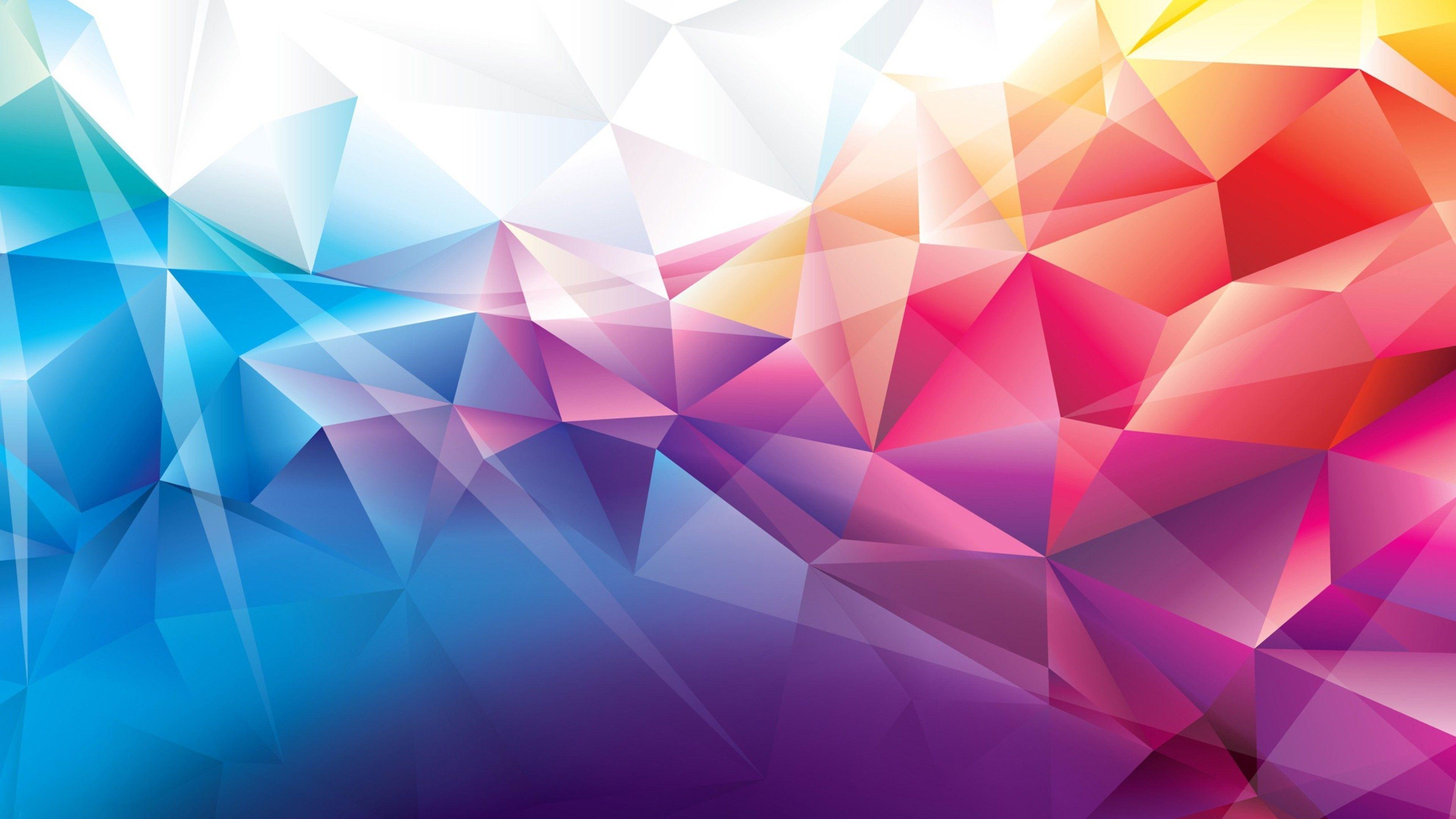 Colorful Polygons Jpg 3840 2160 Abstract Abstract Wallpaper Wallpaper Windows 10
