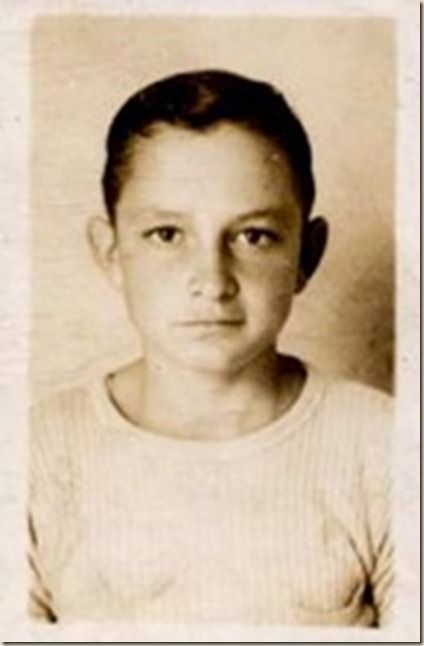 Johnny Cash as a child