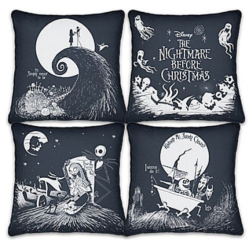The Disney Nightmare Before Christmas Black And White Pillow Set