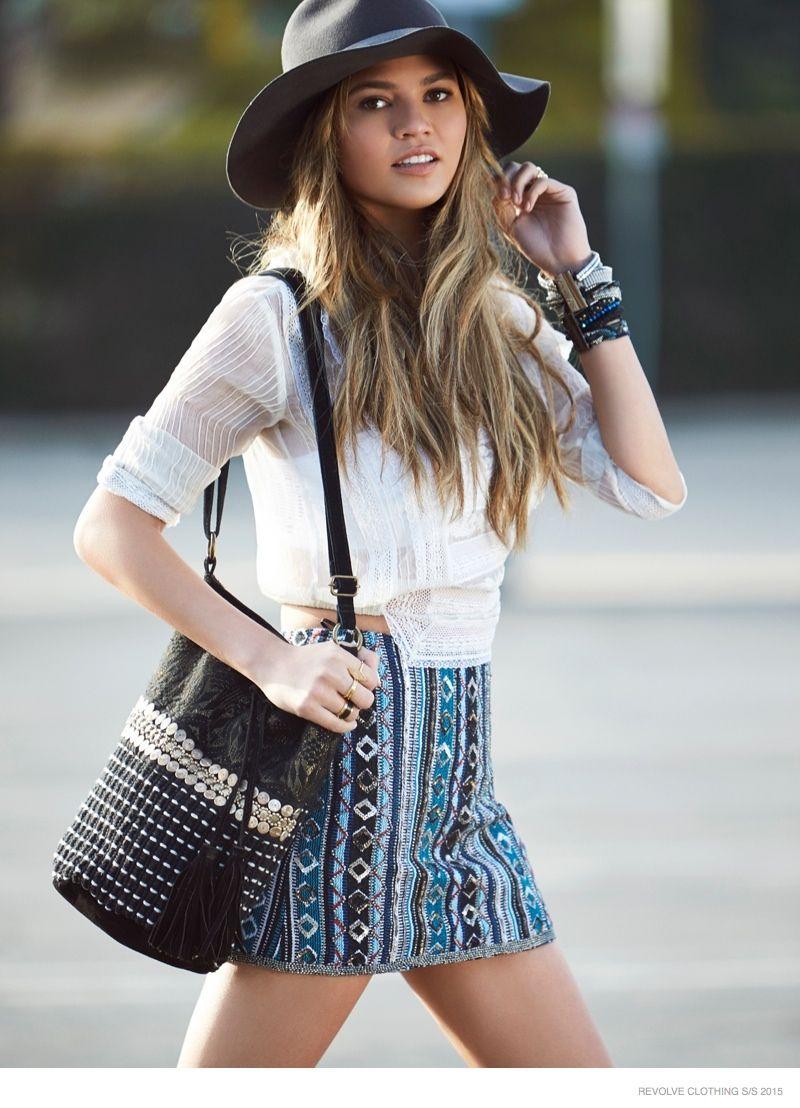 Chrissy Teigen Goes Shopping in REVOLVE Clothing Spring '15 Ads