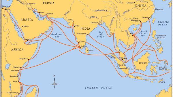 Indian Ocean Trade Map Goods