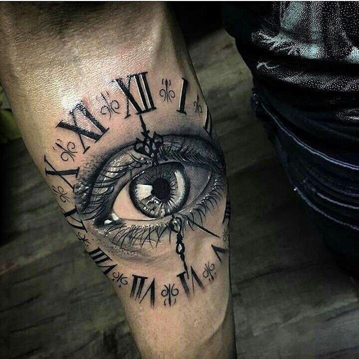 Eye And Multiple Clock Tattoo: Пин от пользователя Василий Игнатов на доске часы