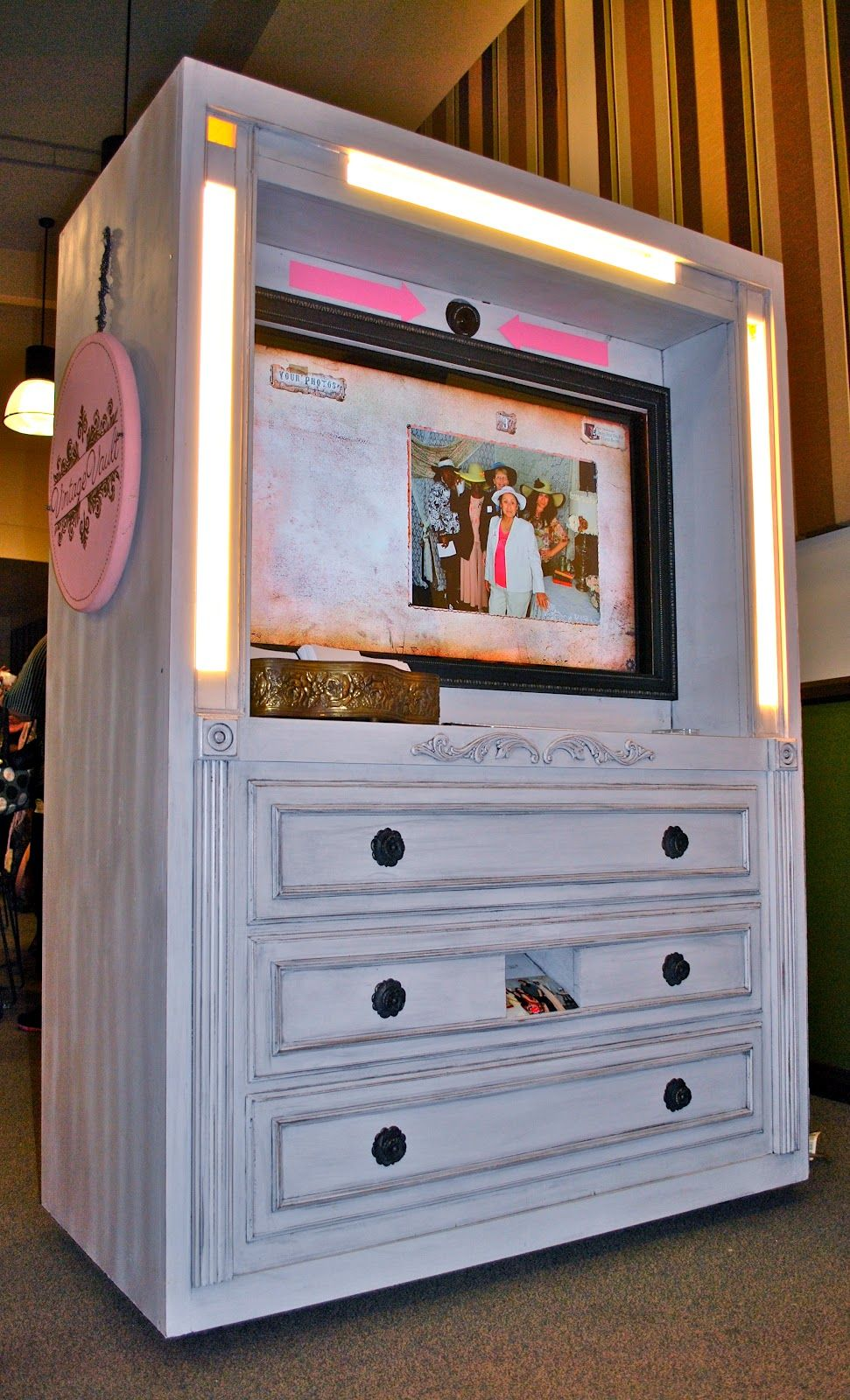Saleena: DIY: Making New Furniture Look Old, Photo Booth Debut
