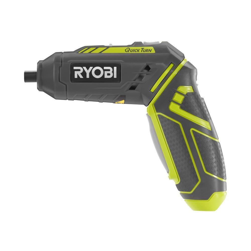 Ryobi 4 Volt Quickturn Lithium Ion Cordless 1 4 In Hex Screwdriver Kit Hp44l The Home Depot Ryobi Cordless Screwdrivers Ryobi Tools