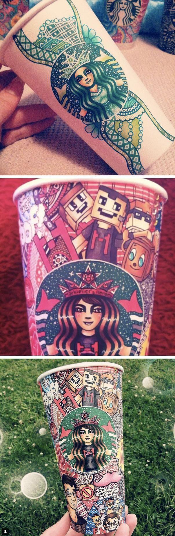 20-year-old artist Carrah Aldridge is turning her Starbucks lattes into masterpieces