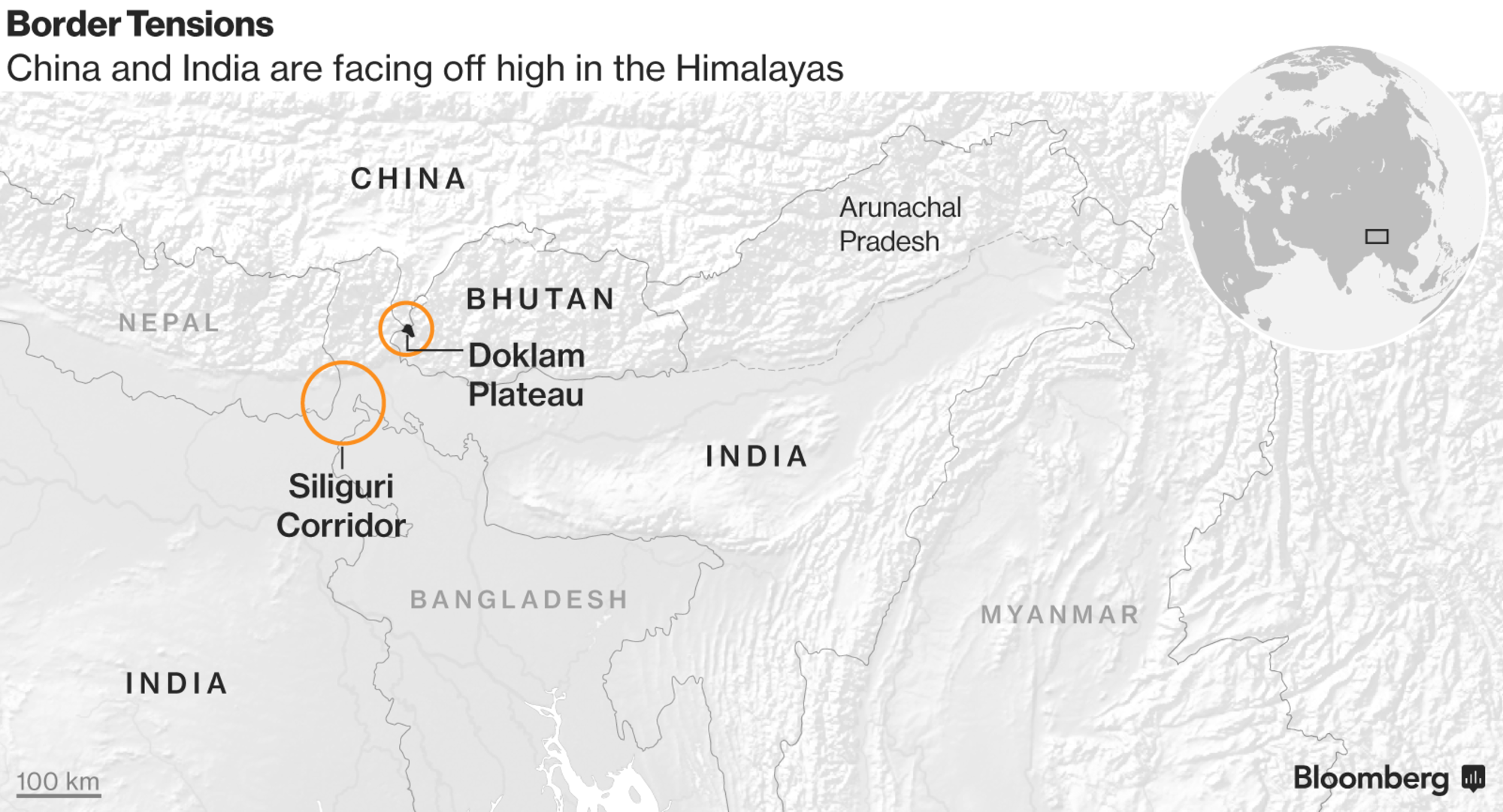 China and India Locked in Border Dispute Military