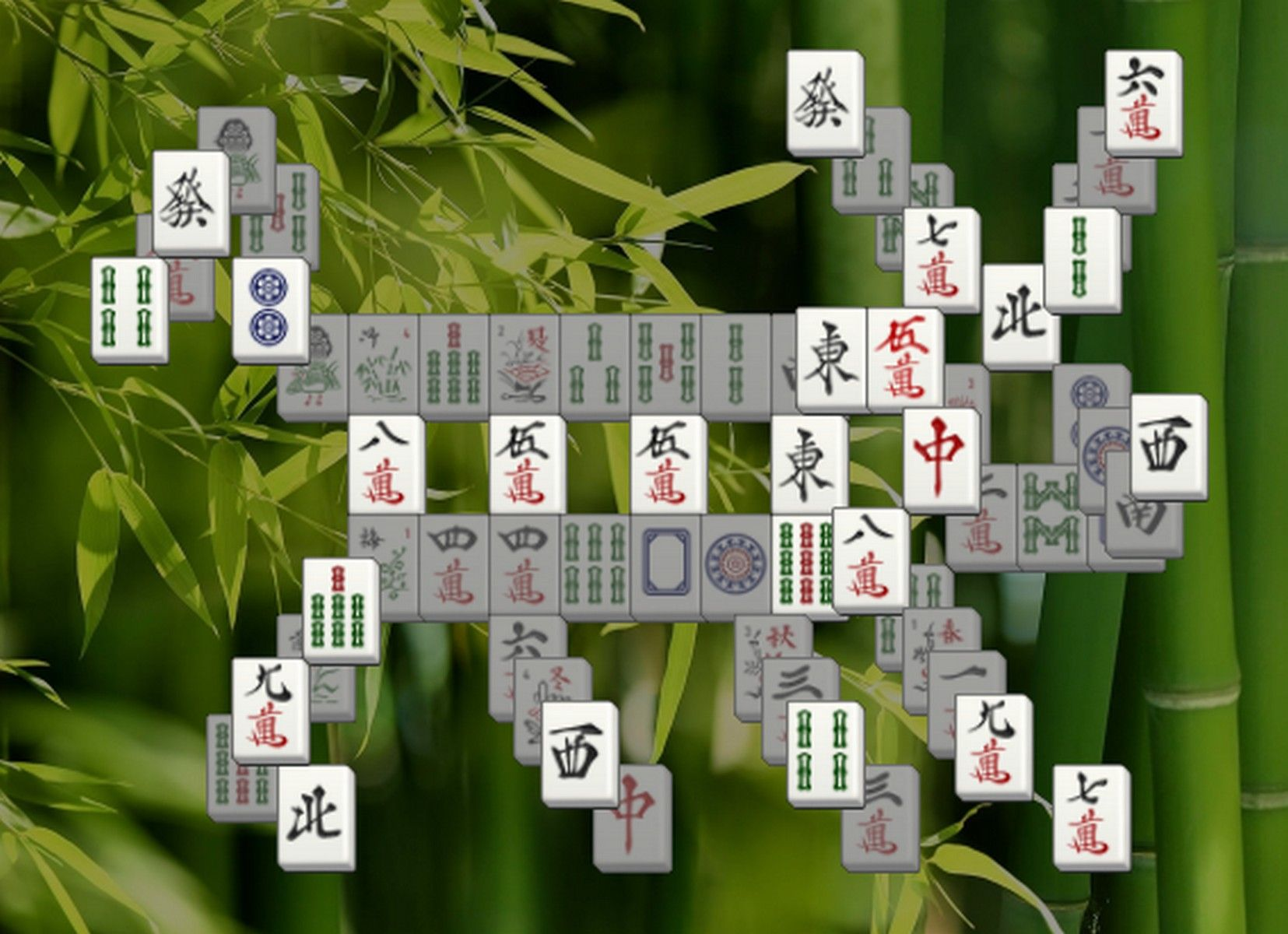 100 different layouts in a Classic Mahjong Solitaire game