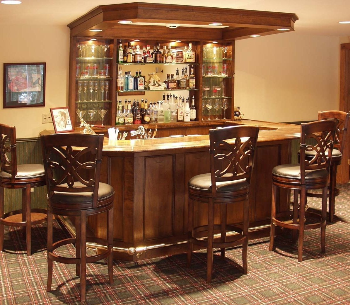 Lounge Home Ideas: 35 Best Home Bar Design Ideas