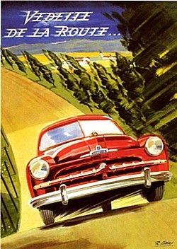 ford vedette 52 voiture routi re de 1952 la ford vedette 52 photo affiche publicitaire. Black Bedroom Furniture Sets. Home Design Ideas