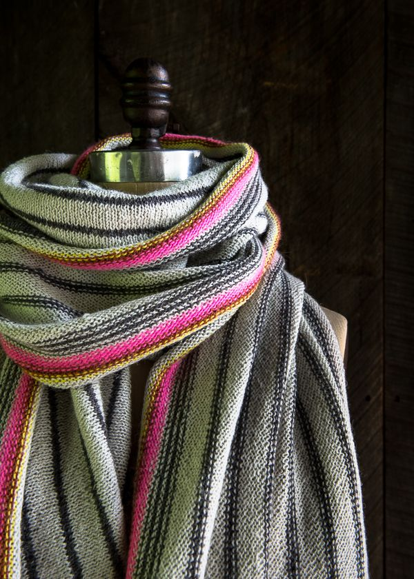 Ticking stripe scarf  Free pattern from Purl Soho | Scarfs