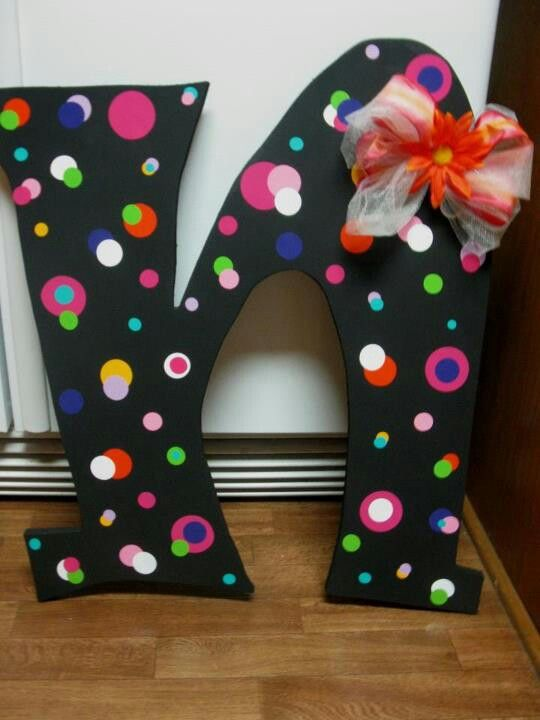 large wooden initial letters