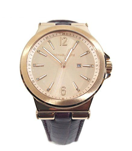2246d601ca Michael Kors MK2602 Dylan Rose Gold Stainless Steel Case Burgundy Croco  Leather Women's Watch