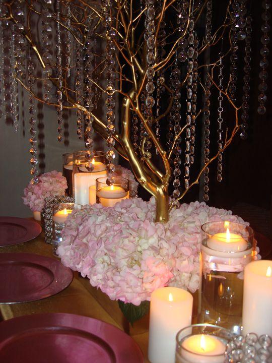 Brilliant Rent Manzanita Branch Wedding Centerpieces In Blush Pink Beutiful Home Inspiration Xortanetmahrainfo