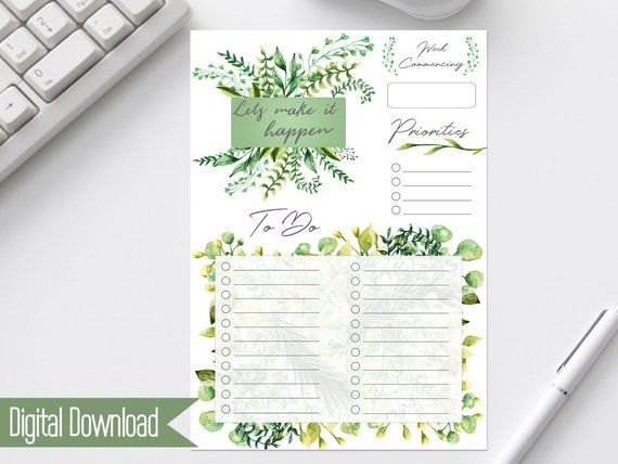 Printable To Do List - Weekly To Do List - A4 To Do List - Printable