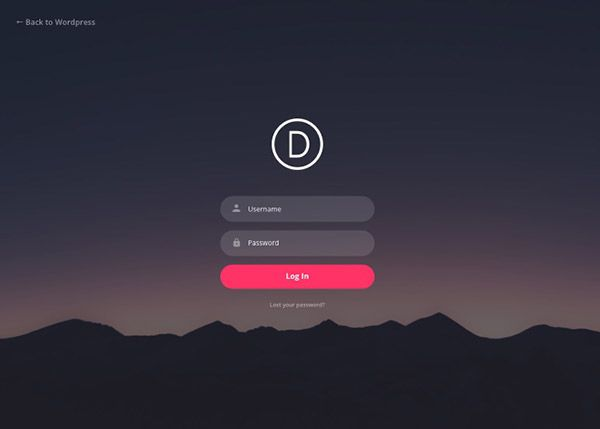 free divi custom login page extension allows you to easily create a