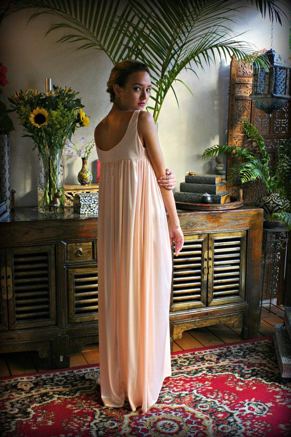 Pink Satin Nightgown Satin Sleepwear Satin Lingerie Pink Nightgown ...