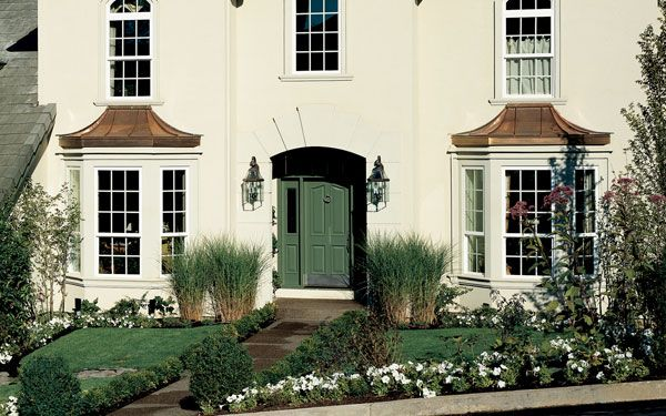 Bay window ideas bay windows window and ceiling for House plans with large front windows