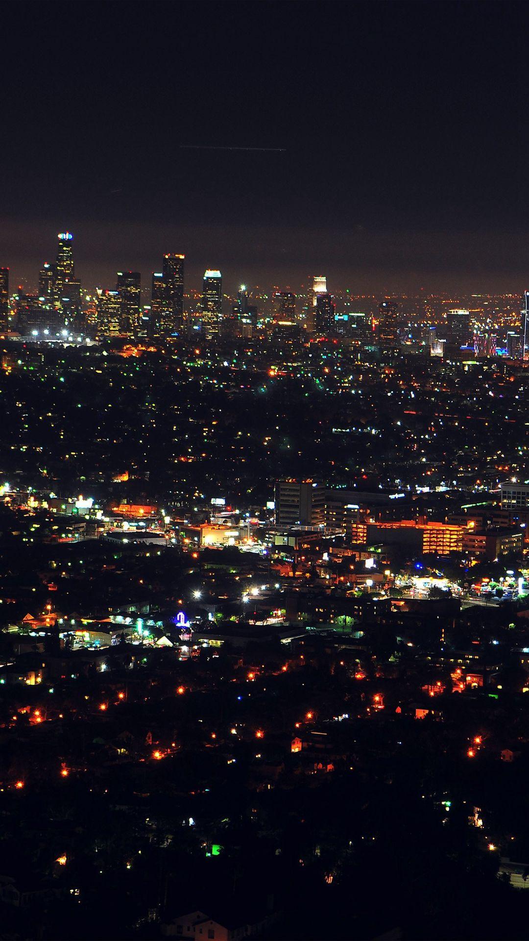 Wallpaper iphone city - City View Night Light Iphone 6 Plus Wallpaper