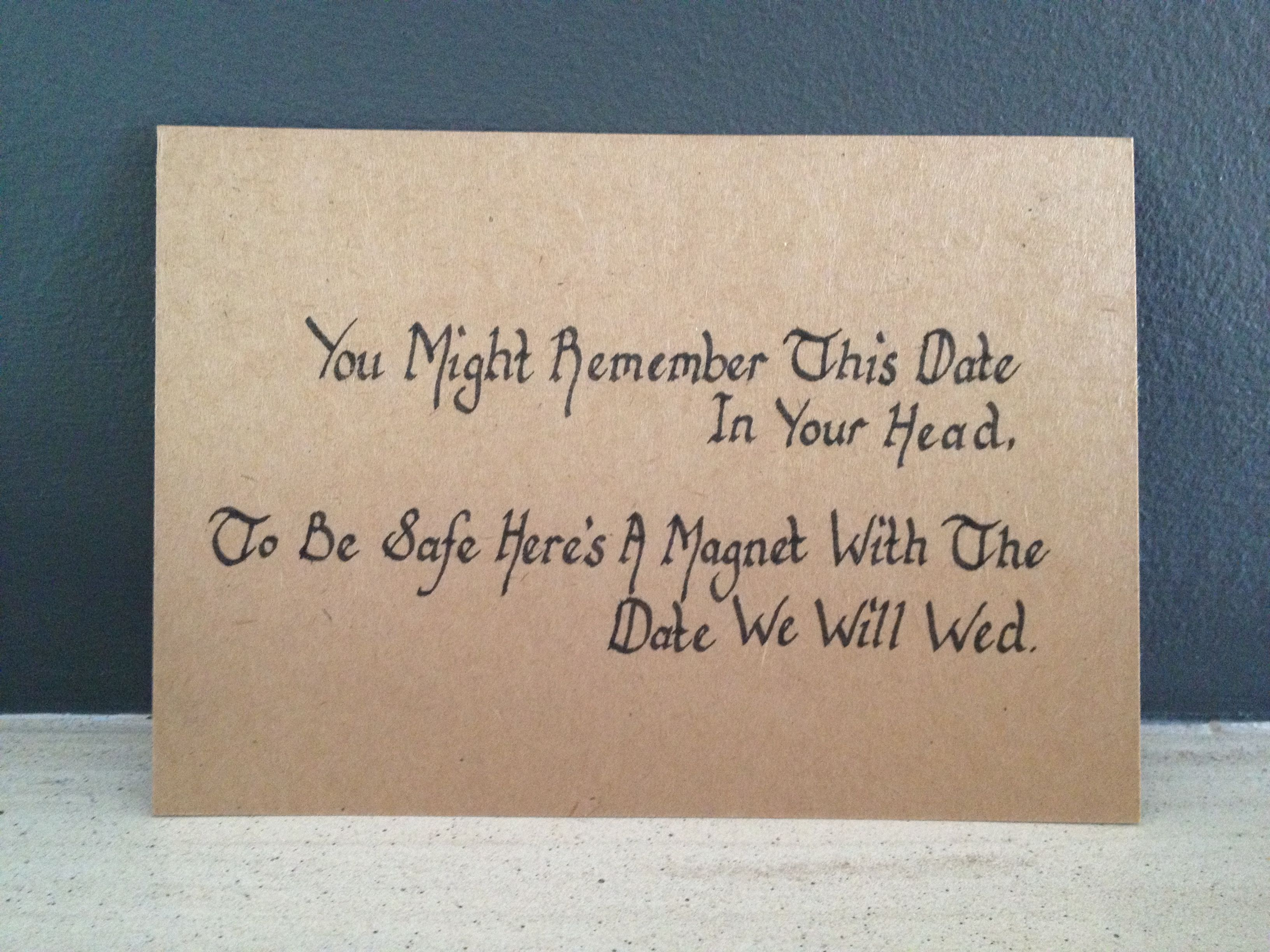 Funny Wedding Invite Poems: Poem To Go With Our Save The Date Magnet