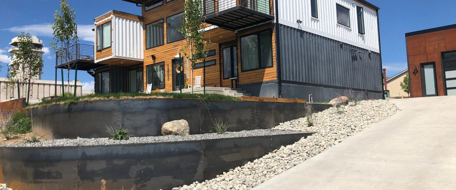 Denver firefighter uses 9 shipping containers to build a ...
