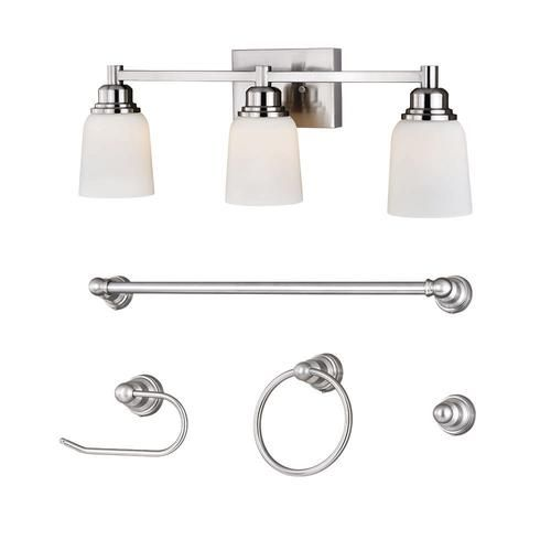 Led Strip Lights Menards Patriot Lighting® Avenue Led Satin Nickel Bath In A Box At Menards