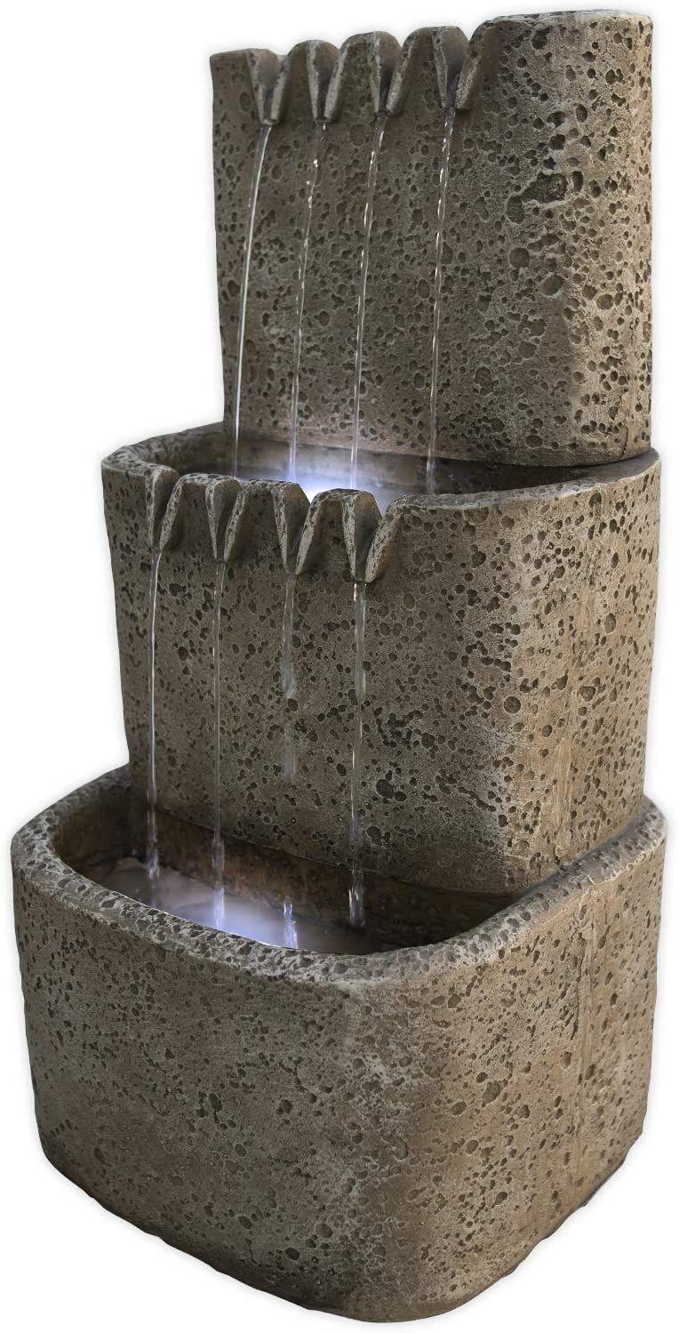 Kohko Wasserfall Mit Led Beleuchtung Drei Zinnen Zinnenbrunnen 13016 Wasserspiel In 2020 Led Beleuchtung Wasserspiele Led
