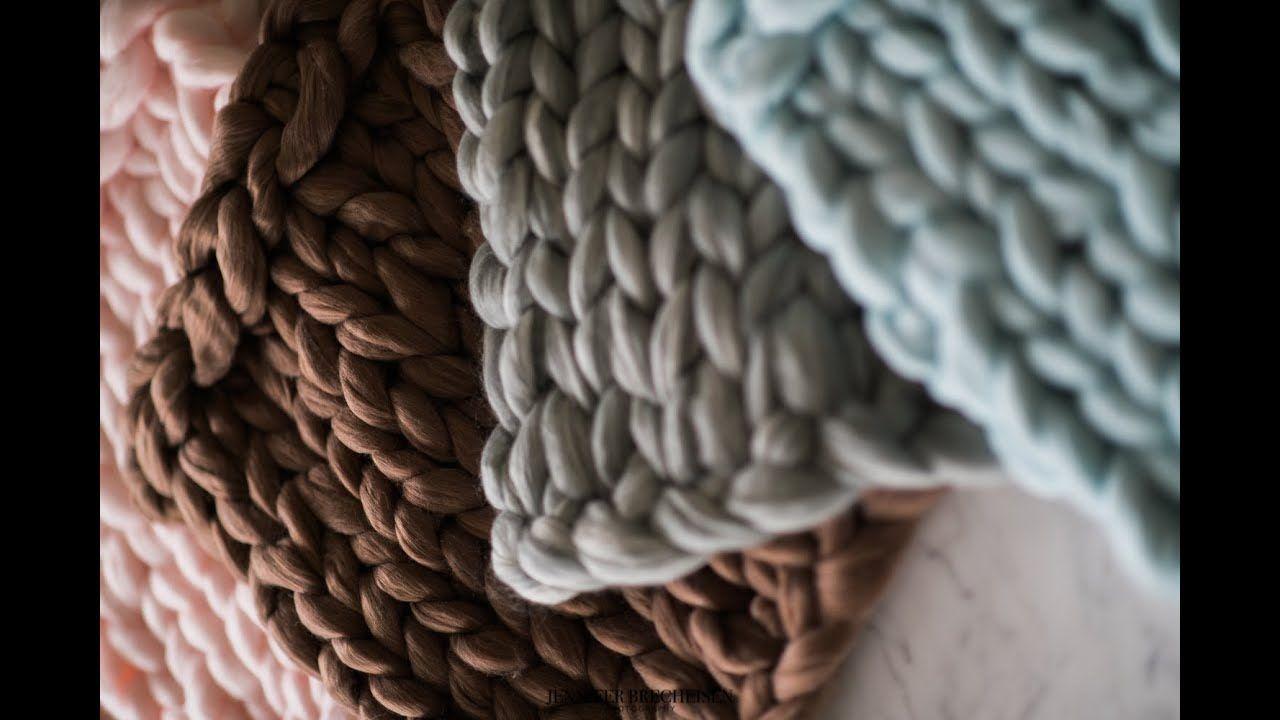 diy chunky knit blanket youtube