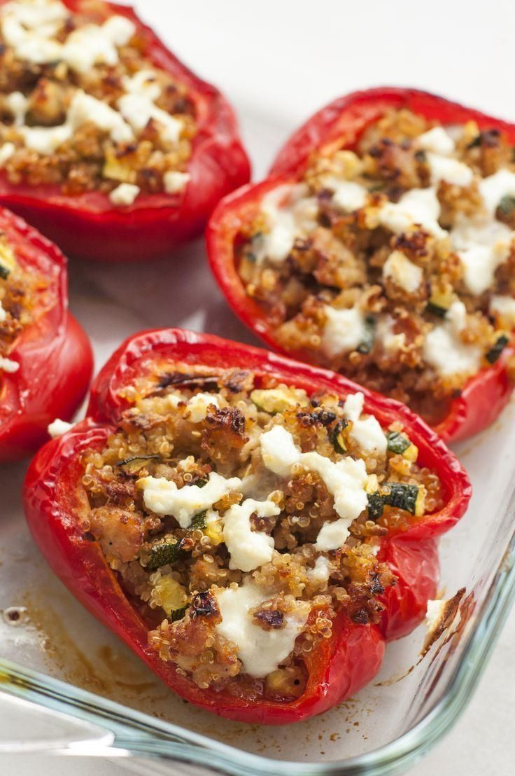 These spicy greek peppers filled with tzatziki sauce are one  Rezeptideen