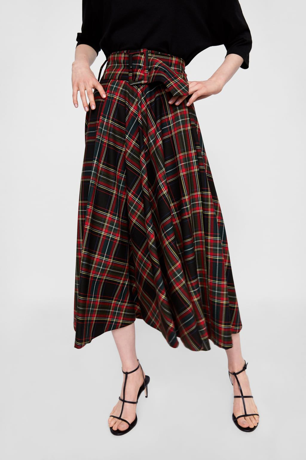 a4c3a8703c Plaid midi skirt   fw 2018 wishlist   Plaid skirts, Midi skirt ...
