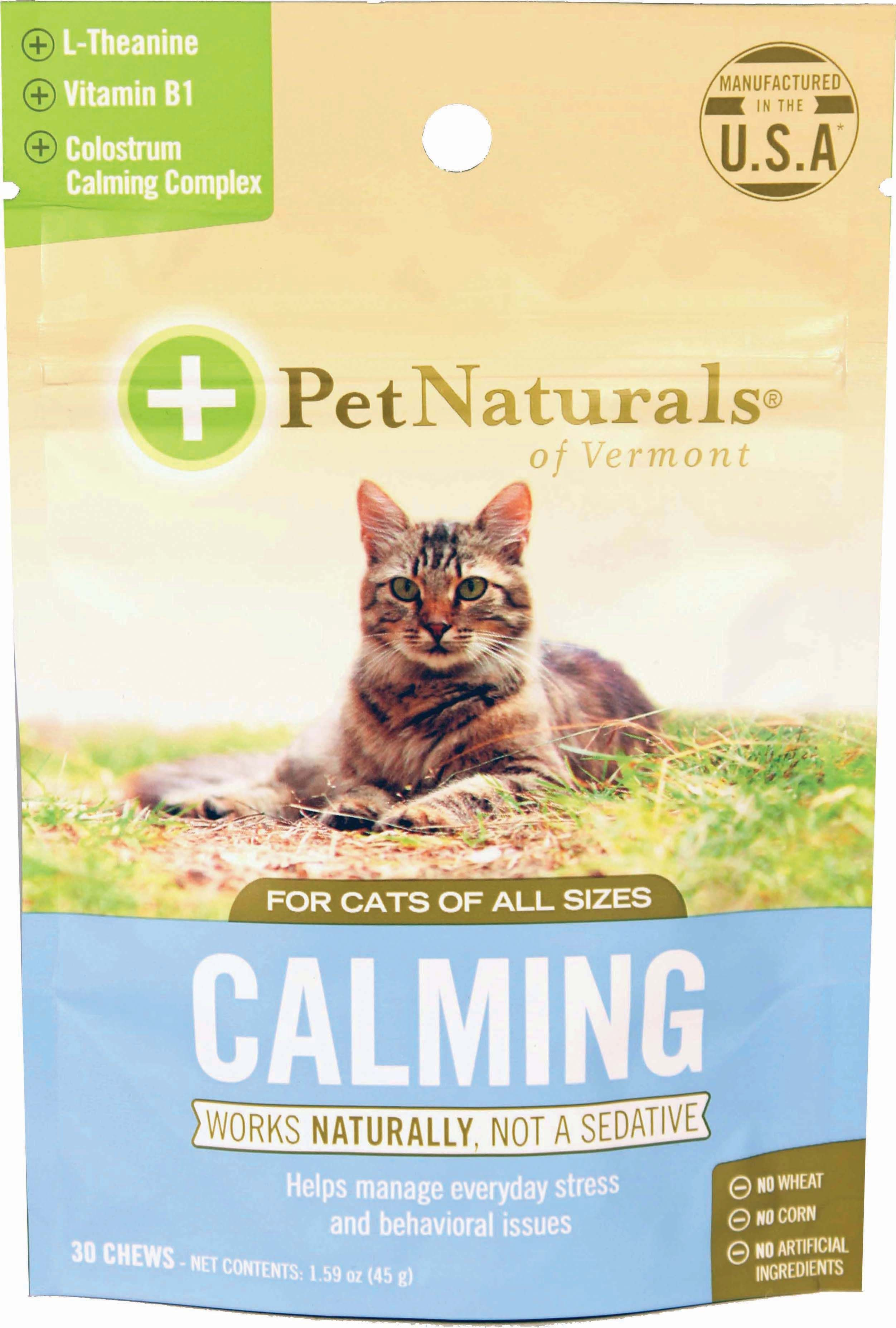 Cats calming chew for cats by pet naturals of vermont 30