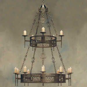 Schmiedeeisen Kronleuchter, Foyer Beleuchtung, Leuchten, Kerzenhalter,  Spanische Kolonie, Foyers, San Diego, Butter, Schmiedeeisen