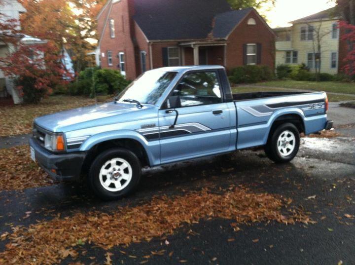 We Bought An 86 Mazda B 2000 New It Was Black And I Had A Cap Put On It Mini Trucks Mazda Small Trucks