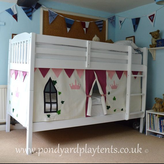 Princess Castle bunk bed tent. Create a by PondYardPlayTents & Princess Castle bunk bed tent. Create a secret hideaway to inspire ...