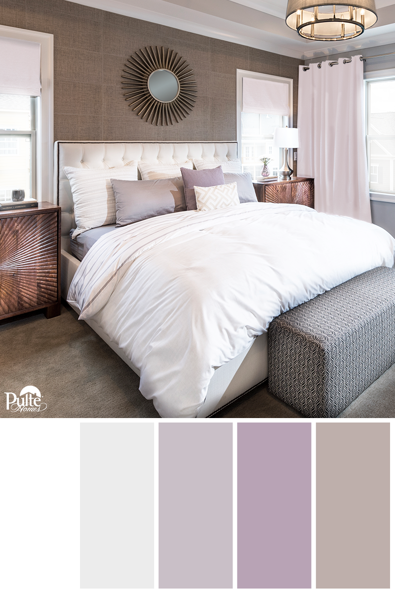 Find Inspiration And Ring In The New Year With Soft Tones Of Bedroom Paint Colors Like Lavender Gray Taupe Bedroom Color Schemes Woman Bedroom Taupe Bedroom