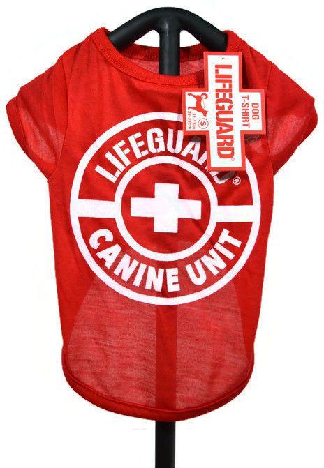 e8650ac50468 Red Lifeguard Canine Unit Dog T-Shirt Medium #Lifeguard | Dog ...