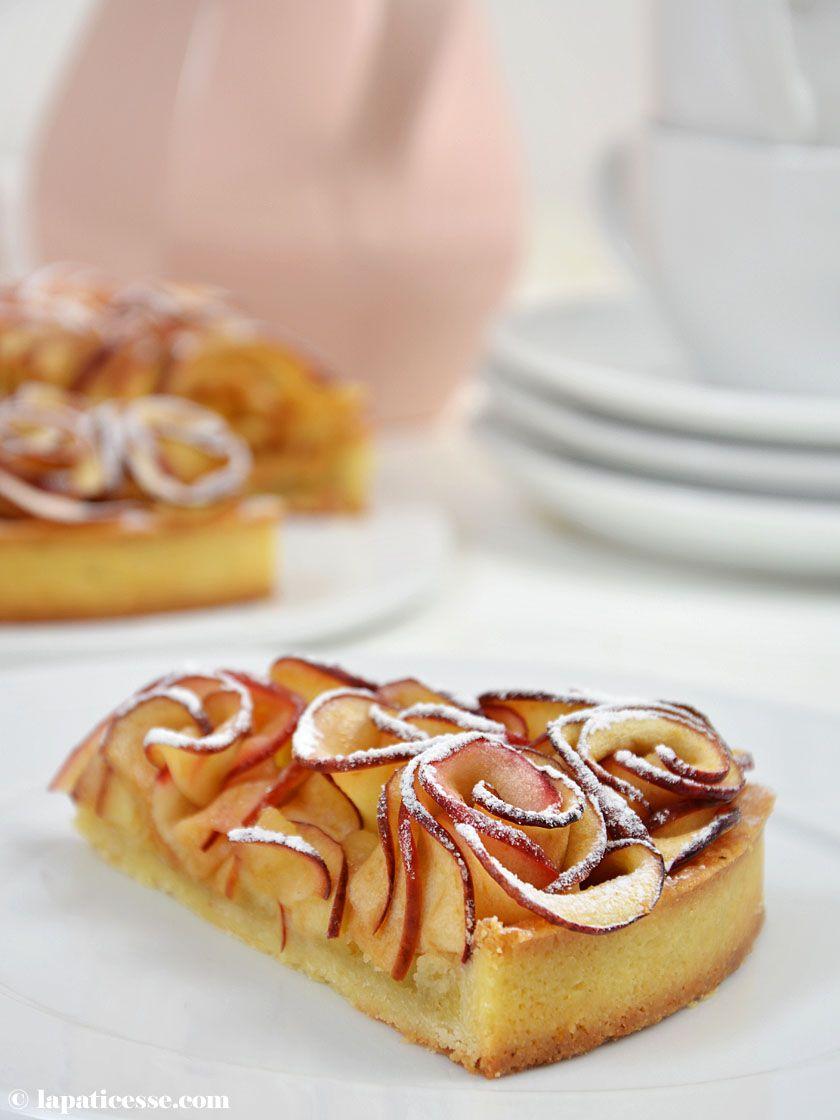 Apfelrosen-Tarte Tarte aux pommes Bouquet de roses - La Pâticesse - Der Patisserie Blog
